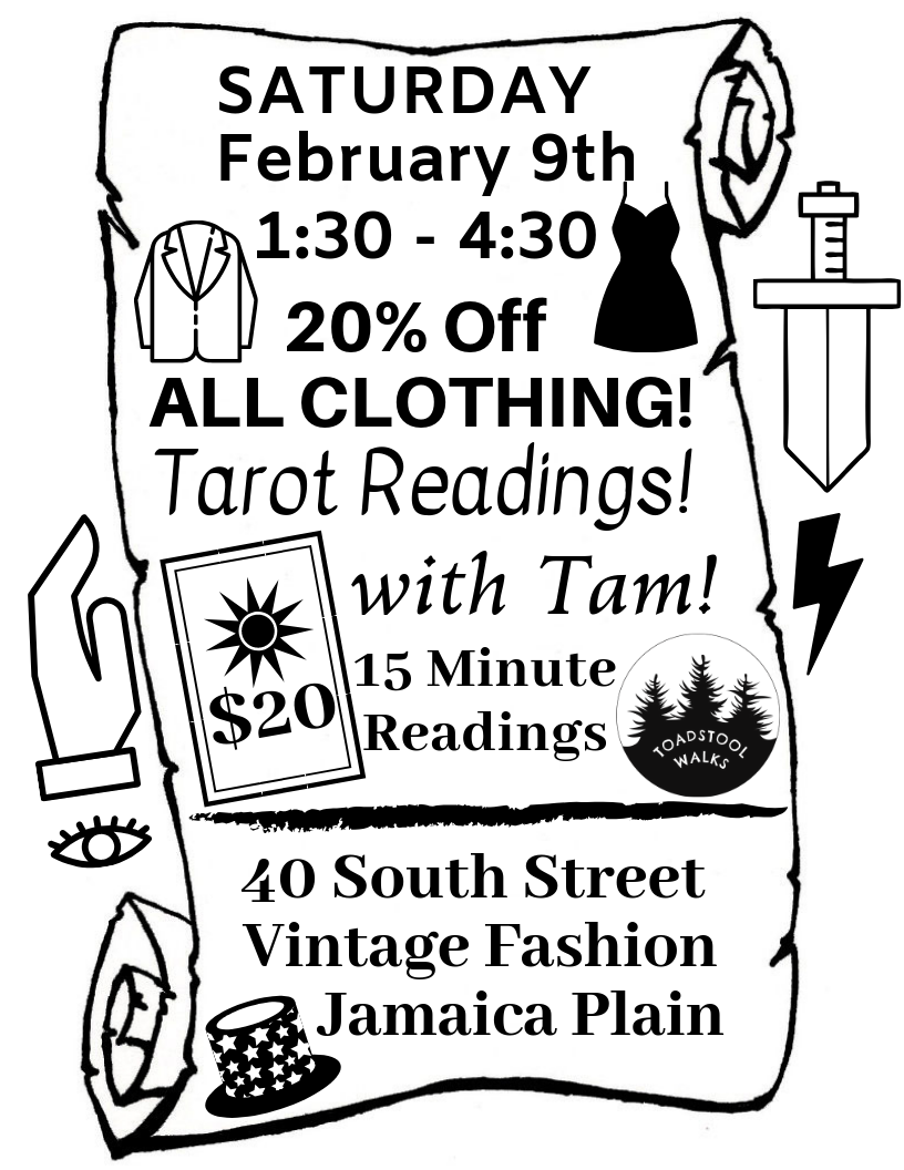 Valentines goods and a Tarot Card reading with a SALE! All